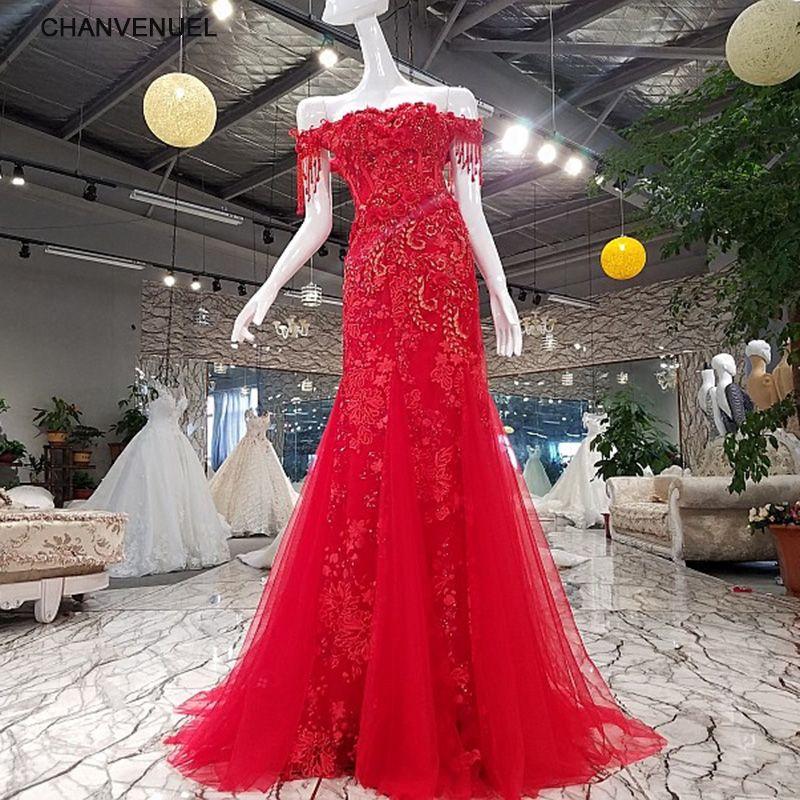 LSGF922 meerjungfrau abendgesellschaft rot weg von der schulter lace up boot-ausschnitt abendkleid formale kleid vestidos de fiesta echt fotos