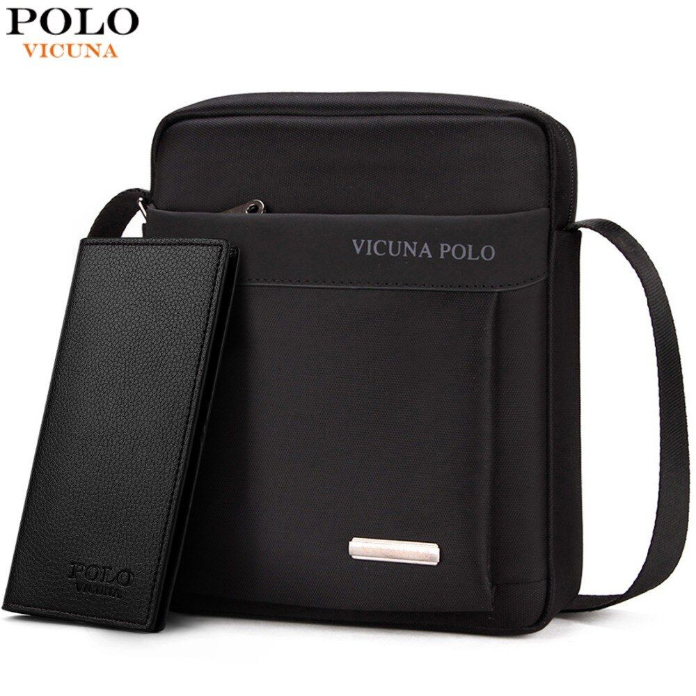 VICUNA POLO Durable Oxford Mens Crossbody <font><b>Bag</b></font> Promotion Casual Mens Shoulder <font><b>Bags</b></font> Black/Brown Leisure Brand Man <font><b>Bag</b></font> For iPad