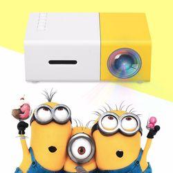 DROP Pengiriman YG300 Kuning Emas-300 LCD Projector Full HD 1080 P Mini Portable Home Theather Cinema LED Proyektor untuk video Media Player