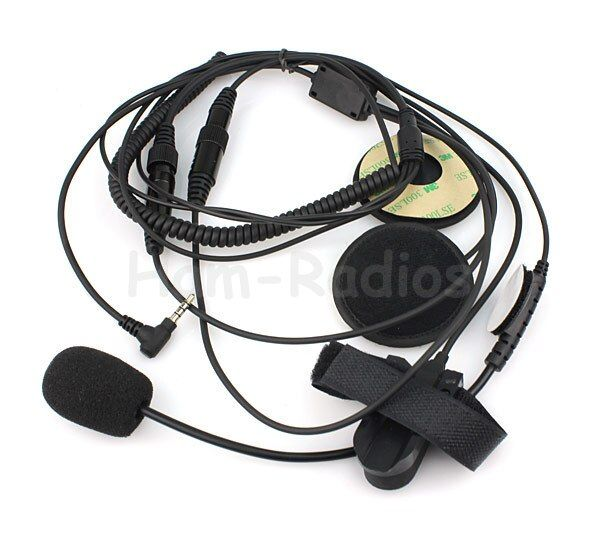 Motorcycle Helmet Headset Microphone for YAESU Vertex VX-3R, VX-5R VX-400 VX-160 Radios with PTT 1 Pin 3.5mm