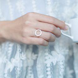 Оптовая продажа 100% натуральная 925 пробы серебра открыт круглый палец кольцо Регулируемый размер геометрический стерлингового-серебро-ювел...