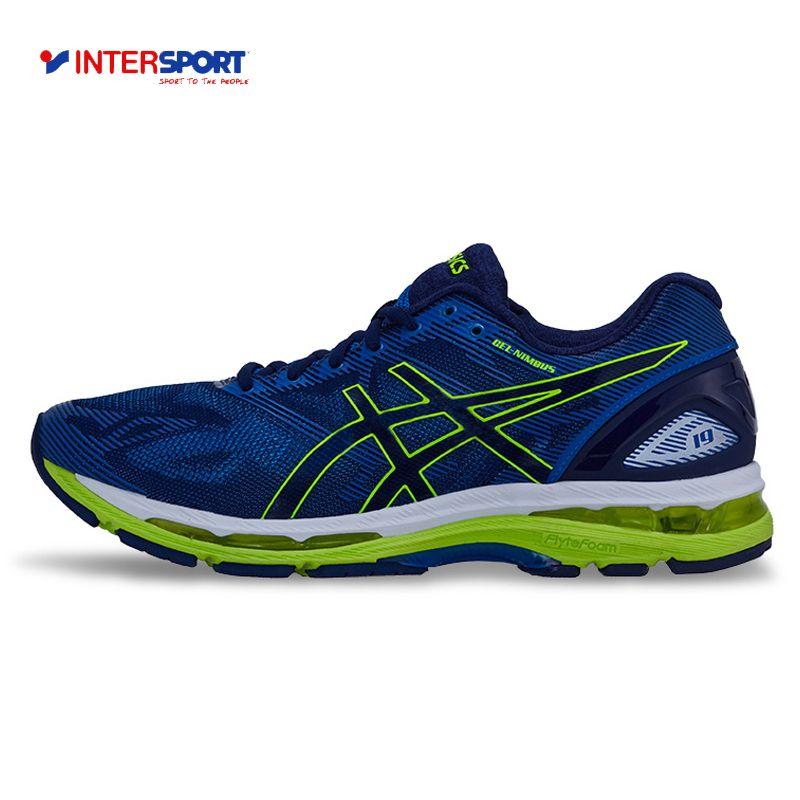 Intersport Аутентичные ASICS Новое поступление Мужская обувь GEL-Nimbus 19 Подушки Кроссовки дышащие спортивные Обувь Спортивная обувь