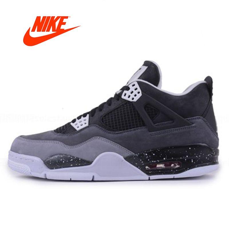 Offizielle Ursprüngliche Nike AIR JORDAN 4 Angst Packung AJ Oreo männer Basketball-schuhe Turnschuhe 626970-030