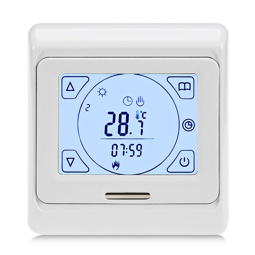 Weekly Programming Thermoregulator Touch Screen Heating Thermostat for Warm Floor Electric Heating System Temperature Controller