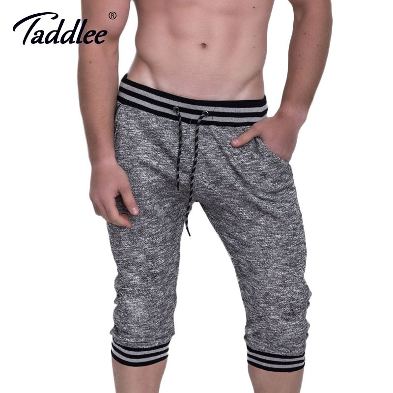 Taddlee Brand New Men's Shorts Cotton Fitness Sports Gym Workout Sweatpants Gasp Trunks Boxers Running Training Bottoms Big Size