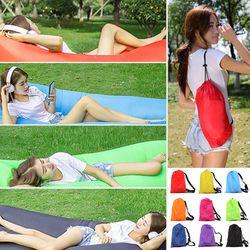 Dropshipping Fast Inflatable Lazy bag Light Air sleeping bag lazy sofa Camping Portable Air  Beach bed Waterproof Folding sofa