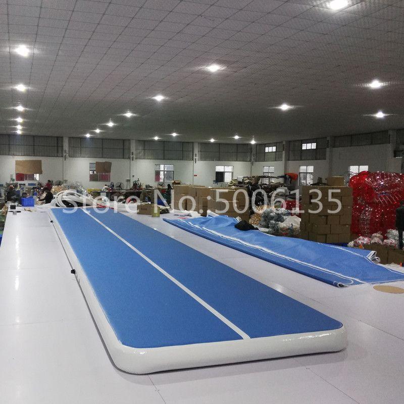 Freies Verschiffen 8 m Aufblasbare Günstige Gymnastik Matratze Gym Wäschetrockner Airtrack Boden Taumeln Air Track Für Verkauf