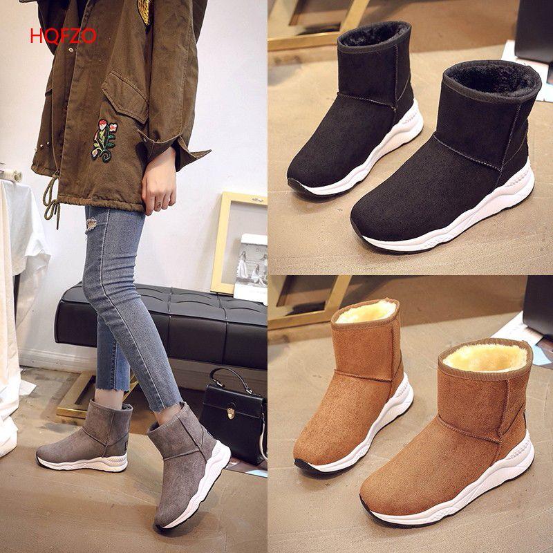 HQFZO Haute qualité classique femmes bottes d'hiver dames doux confortable bottes de neige femelle d'hiver bottes femmes chaussures d'hiver femmes bottes