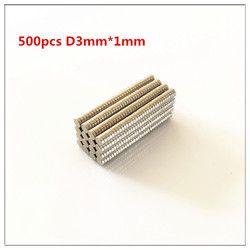 500 unids granel ronda pequeño neodimio imanes 3mm x 1mm N35 tierra rara imán de NdFeB