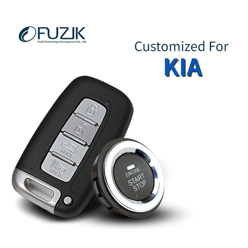 Fuzik Keyless Go Smart Key Keyless Entry Push Remote Button Start for kia K2 K3 Soul Rio Cerato KX3 Forte K3S K5 Sportage