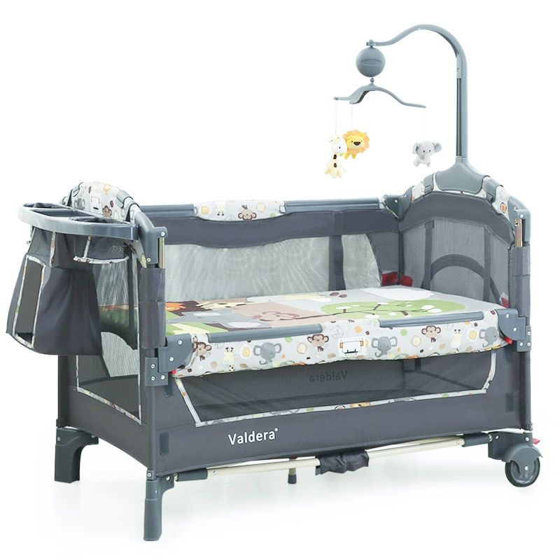 2019 Baby Bed Kids Cribs For Twins Babies Valdera EU Multifunctional Folding Baby Bed Brand Travel game bed Two-layer bed