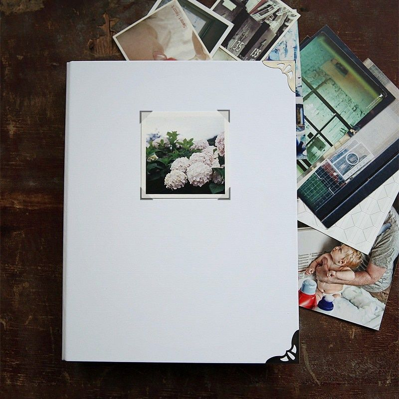 White Water Resistant Cover 9 Rings Binding 27.5*21.5CM Loose Leaf Photo Album Scrapbook For The Newborn Album For Photos Buy