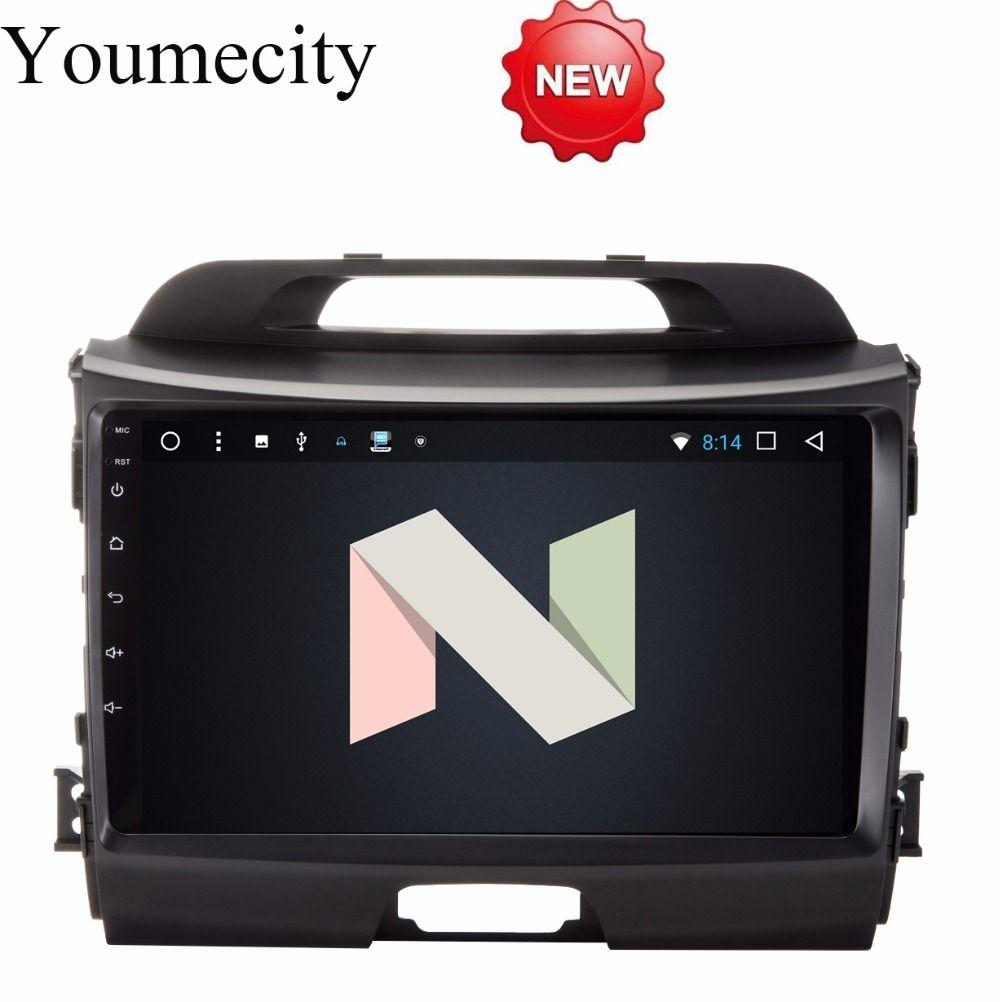 Youmecity Android 7.1 Octa-core Steuergerät Auto DVD-player für KIA Sportage R 2014 2011 2012 2013 2015 Gps wifi Radio Bluetooth