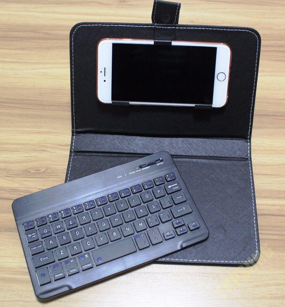 9 couleurs sans fil Bluetooth Clavier En Cuir PU Cas de Téléphone portable Stand pour iPhone 7 6 6 S Lenovo Samsung Huawei Xiaomi ZTE Sony