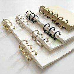 2 Pcs DIY Perencana Spiral Longgar Leaf Cincin Pengikat A5 A6 A7 Stainless Steel Clip, isi Kertas Notebook Folder Aksesoris
