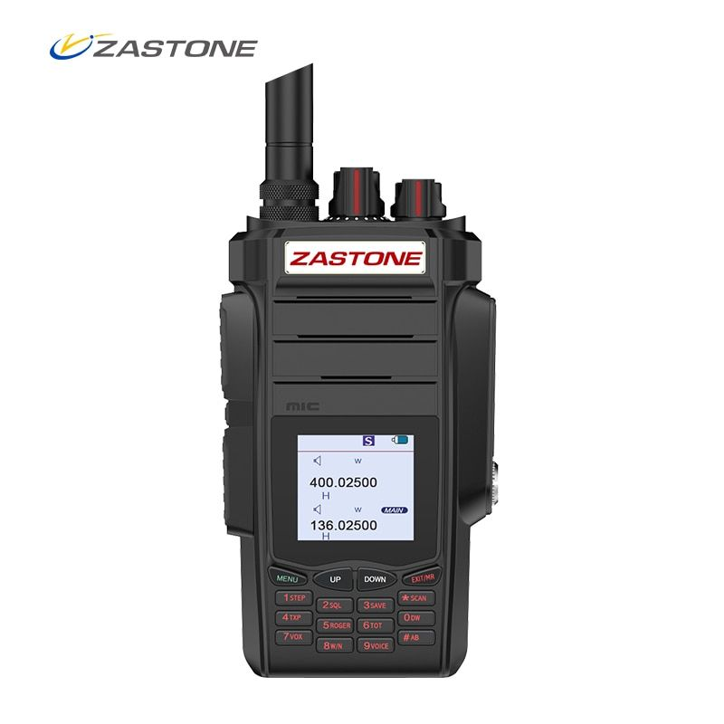 Zastone A19 Walkie Talkie Professional CB Radio ZASTONE A19 Transceiver 10W VHF&UHF Handheld A19 For Hunting Radio