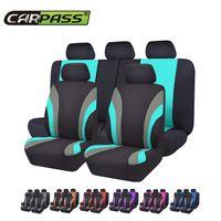 Coche pasar automóviles Universal siete Color cubierta de asiento de coche-estilo de asiento de ajuste Interior accesorios asiento Decoración