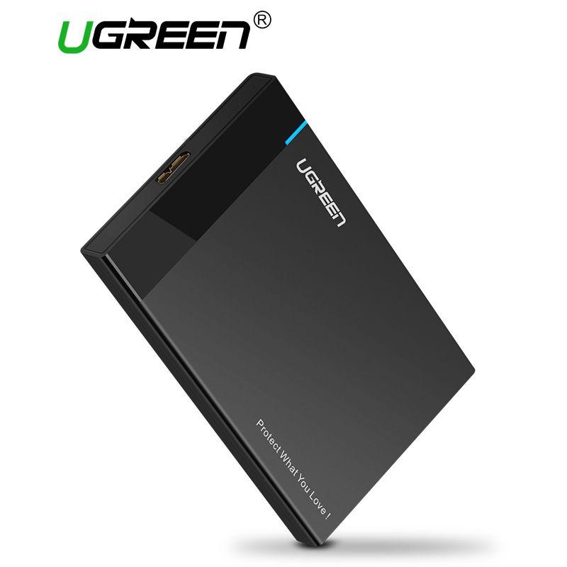 Ugreen HDD Cas 2.5 pouce SATA à USB 3.0 SSD Adaptateur pour Samsung Seagate SSD 1 TB 2 TB Disque Dur Boîte Externe Hdd