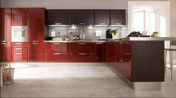 2017 индивидуальные высокий глянец, красный лак кухонные шкафы L1603004
