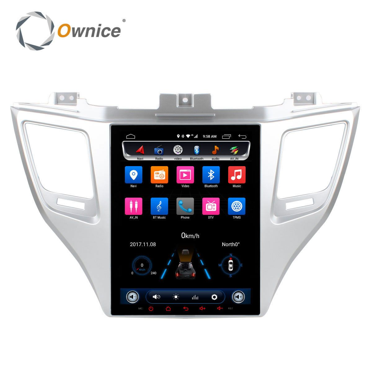 Ownice Android 6.0 Two Din Car DVD Player For Hyundai TUCSON 2015 With 2GB RAM 32g rom GPS Navigation Radio Support car play dvr