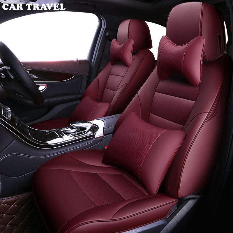 AUTO REISE Nach leder auto sitz abdeckung für Nissan Juke Qashqai X-Trail Volvo V40 XC90 XC60 S60 auto sitze protector