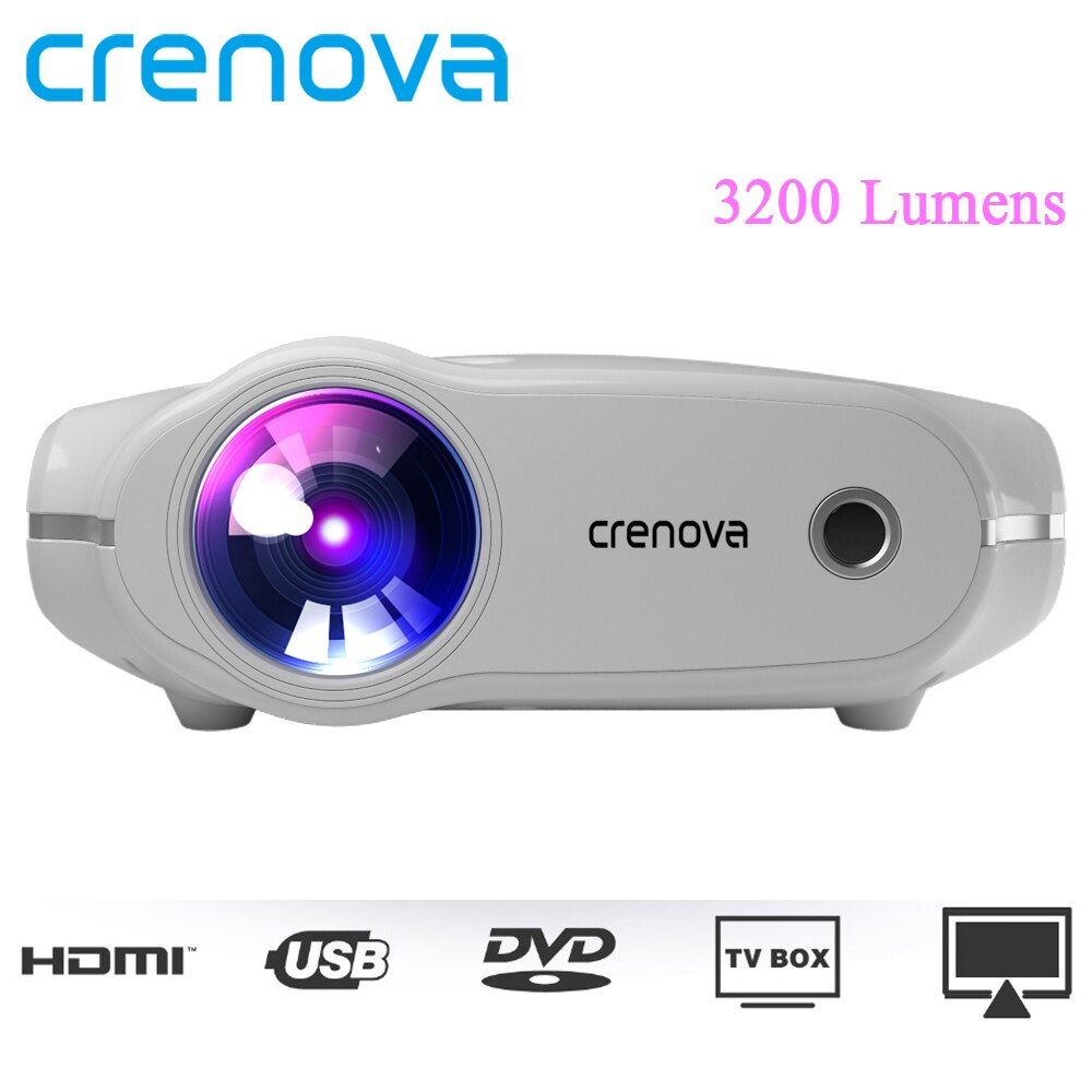 CRENOVA XPE498 New Portable Projector For Full HD 4K*2K 3200 Lumens Home Theater Movie Beamer Android 7.1.2OS Proyector