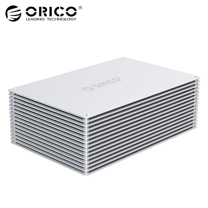 ORICO 3.5 inch DIY HDD Enclosure Adapter USB 3.0 3.1 Type C to SATA Aluminum Dual Bay Single Bay Hard Drive Box External Case