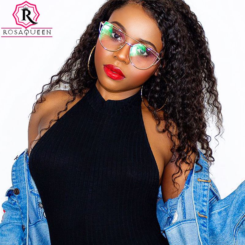 360 Lace Frontal Wig Pre Plucked With Baby Hair Deep Wave Lace Front Human Hair Wigs For <font><b>Women</b></font> Brazilian Rosa Queen Full Remy