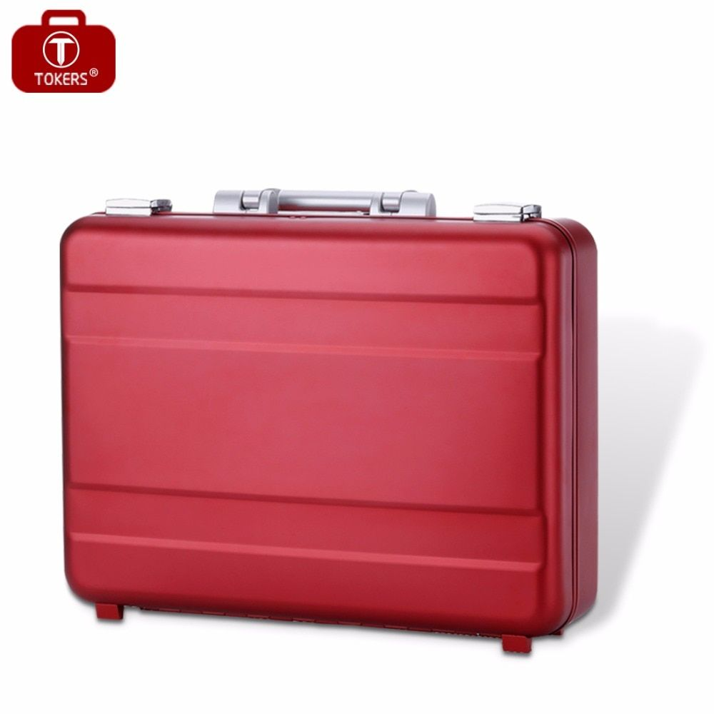 Aluminum briefcase laptop for man business attache case lawyer toolbox 16inch