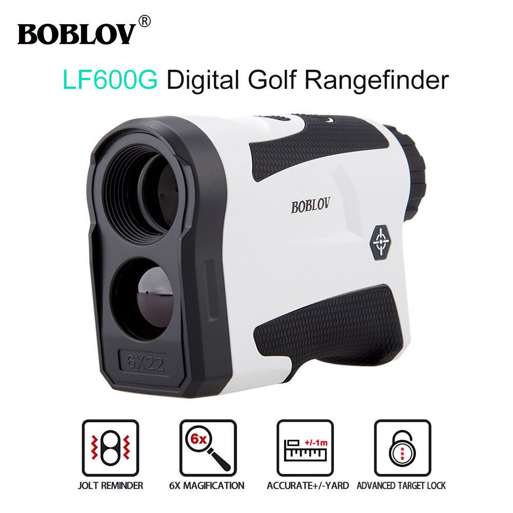 BOBLOV LF600G JOLT Pin seeker 600M 6X Zoom Optical System LCD Telescope Range Finder Vibrating Distance Flag locking Speed Meter