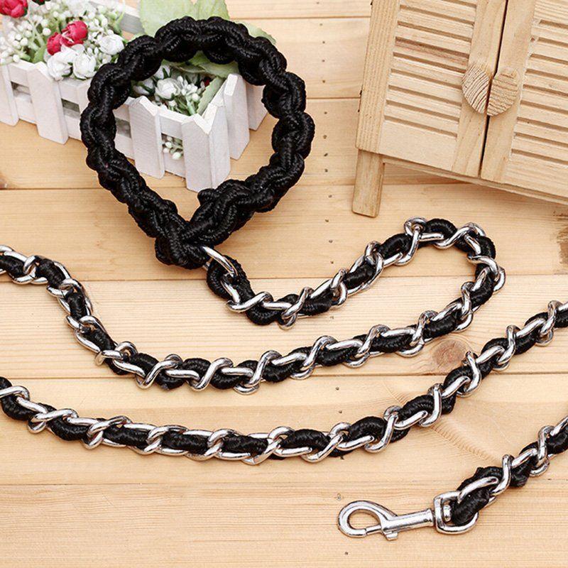 Renforcer collier de chien corde Anti morsure collier chien laisse métal chaîne laisse Pet Shop chien accessoires formation chaîne grand animal Harnes