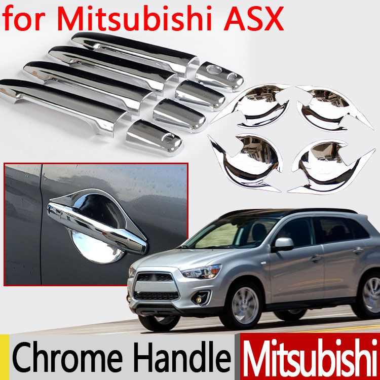 for Mitsubishi ASX 2010 - 2017 Chrome Door Handle Cover 2011 2012 2013 2014 2015 2016 Accessories Car Stickers Car Styling
