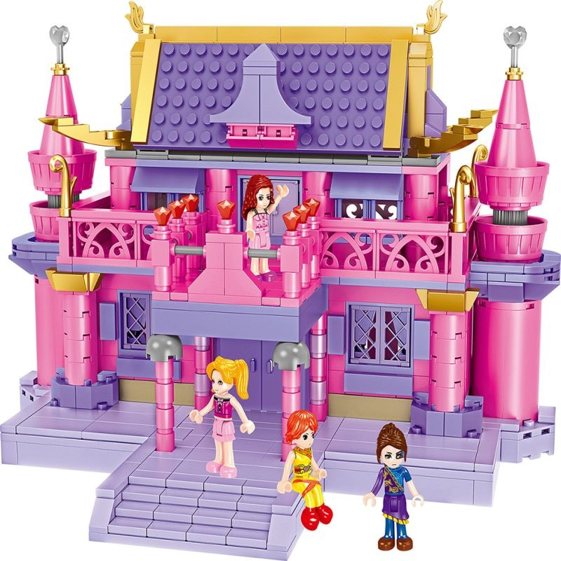 630pcs Fairy Tale LegoIN duplo Figures Princess Girl Model Building Blocks Dolls Palace Bricks Kids Compatible Toys for Children