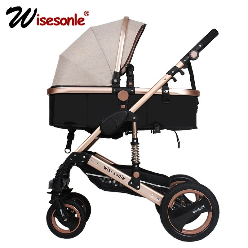 wisesonle <font><b>baby</b></font> stroller 2 in 1 stroller lie or damping folding light weight Two-way <font><b>baby</b></font> four seasons Russia free shipping