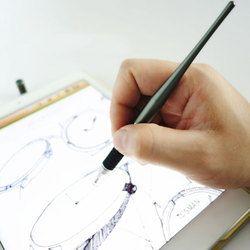 Etmakit Горячая 2 в 1 емкостный стилус ручка новый металлический чертежный стилус для сенсорного экрана ручка для смартфона планшета ПК для iPhone ...