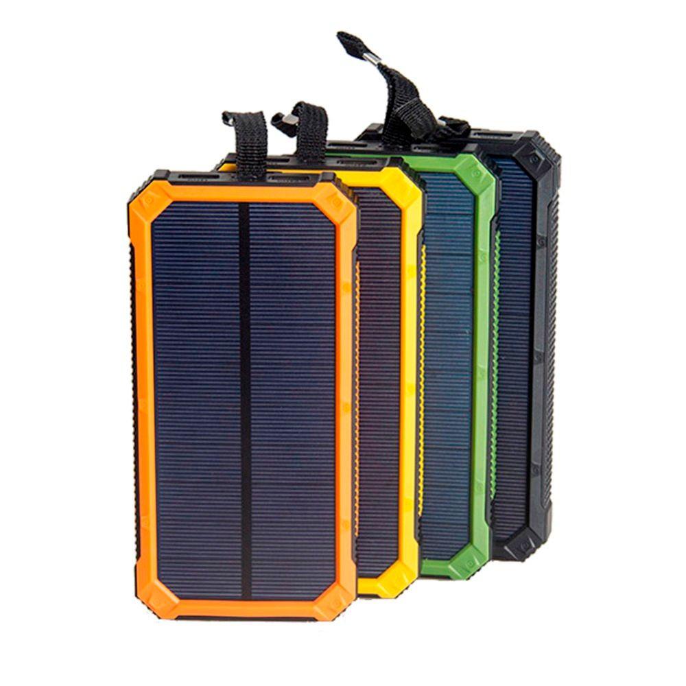 Tollcuudda Portable Solar Power Bank Dual USB Power Bank 10000mAh waterproof external Solar Panel powerbank with LED light