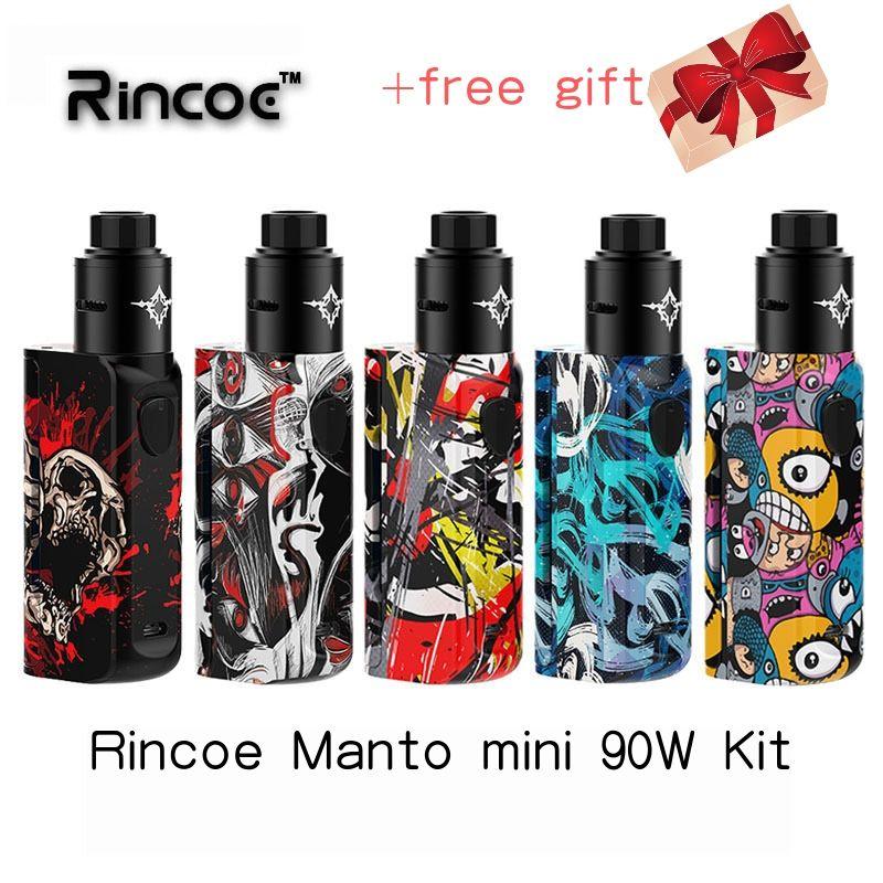 Kit vape Rincoe Manto mini RDA 90W kit powered by Single 18650 cell Electronic cigarette kit vapor storm eco pro mechman 228 w