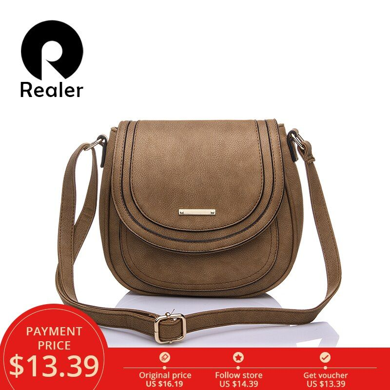 Realer woman handbags small pu leather messenger bags women shoulder Crossbody Bag fashion totes female student black ladies bag