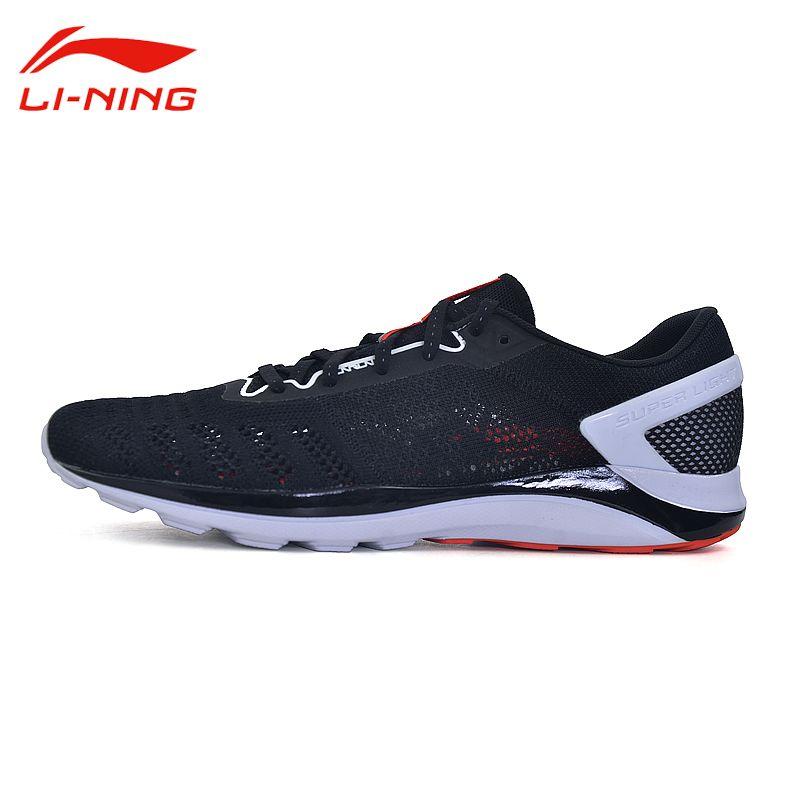 Li-Ning Men's Super Light Breathable Running Shoes Li Ning Cushioning Outdoor Sports Sneakers Light Running Shoes ARBM019