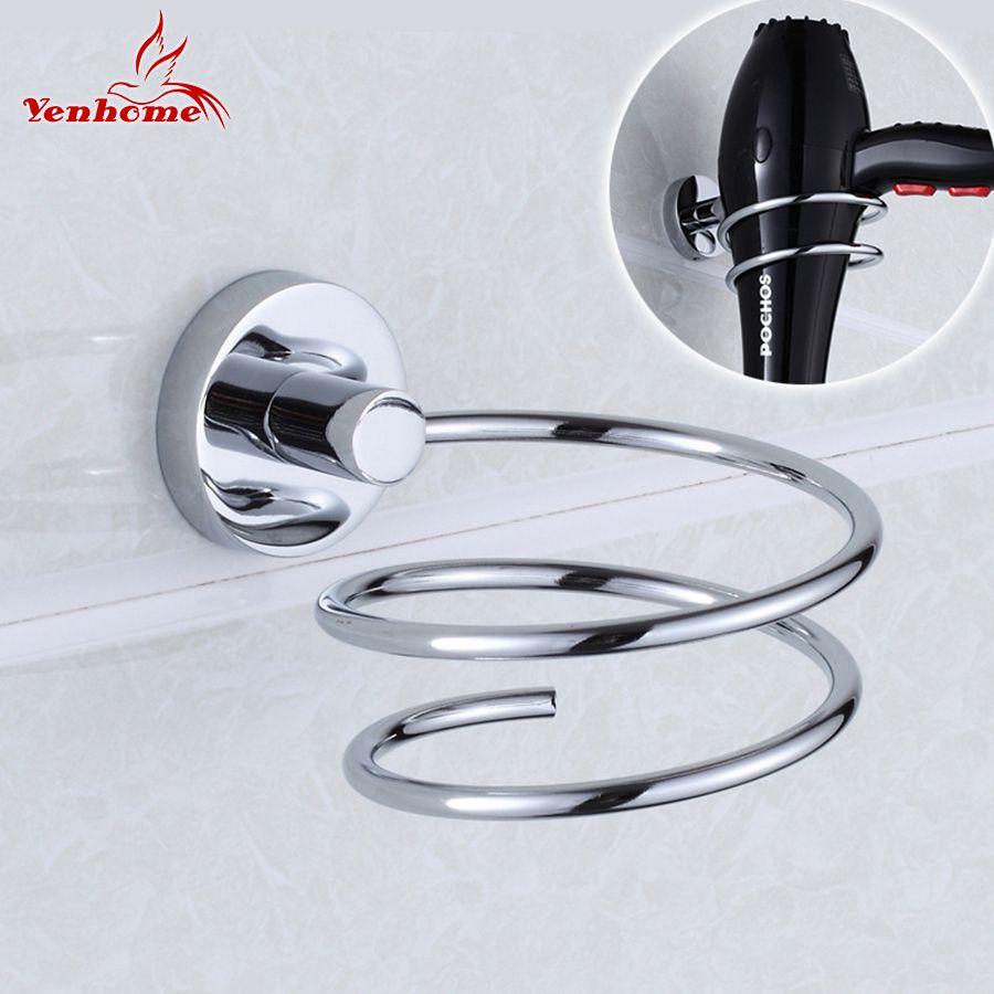 304 acier inoxydable métal sèche-cheveux rack pour mur étagère rack Stand mural salle de bains murs étagère stockage sèche-cheveux titulaire