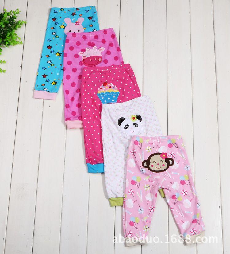 Лето 5 шт./лот Штанишки для малышей Мода хлопок младенческой Брюки для девочек милый мультфильм новорожденных для маленьких мальчиков Брюки...
