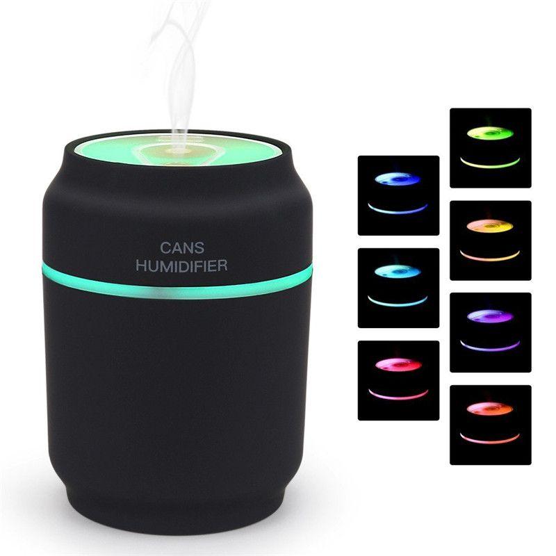 3 dans 1 Arôme Diffuseur Boîtes Voiture Humidificateur Mini Purificateur D'air Aromathérapie Huile Essentielle Diffuseur LED Night Light USB Ventilateur brumisateur