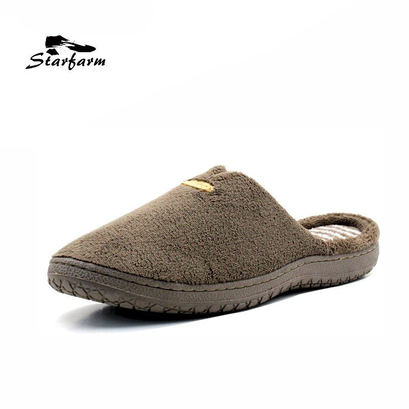STARFARM Memory-schaum Pantoffeln Kurze Plüsch Hausschuhe Weiche Warme Komfortable Rutschfeste Schuhe Mann Schuhe Männer Hausschuhe Blau schuhe