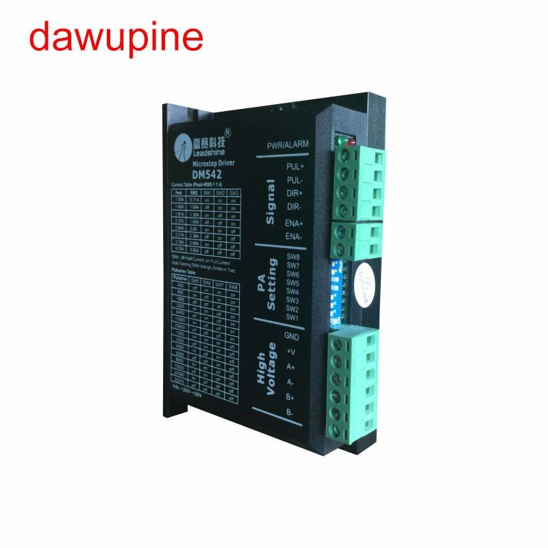 dawupine DM542 Stepper Motor Controller Leadshine 2-phase Digital Stepper Motor Driver 18-48 VDC Max. 4.1A 57 86 Series Motor