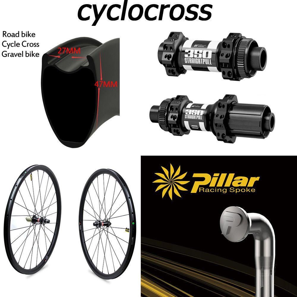 DT 350 Swiss Cyclocross Carbon Wheel 30mm 38mm 47mm Clincher Tubular Tubeless Rims Disc Brake Hubs 700c Gravel Bike Wheelset