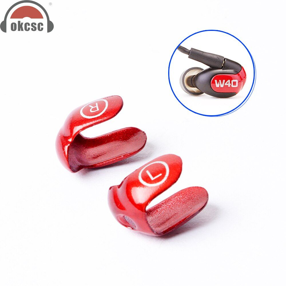 OKCSC Metal Interchangeable Cover Earphone Changeable Faceplates for Westone W30 W40 W50 W60 Dual Driver with Screw Tools