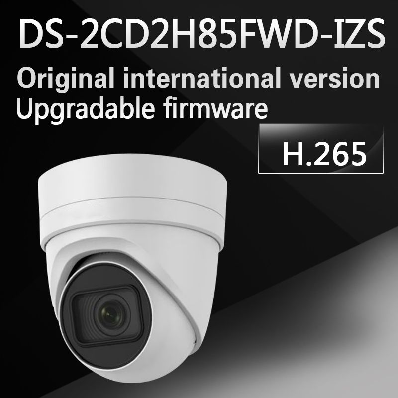 International English version DS-2CD2H85FWD-IZS 8MP network turret ip cctv camera behavior analyses WDR VF lens IP67 IK10 H.265+