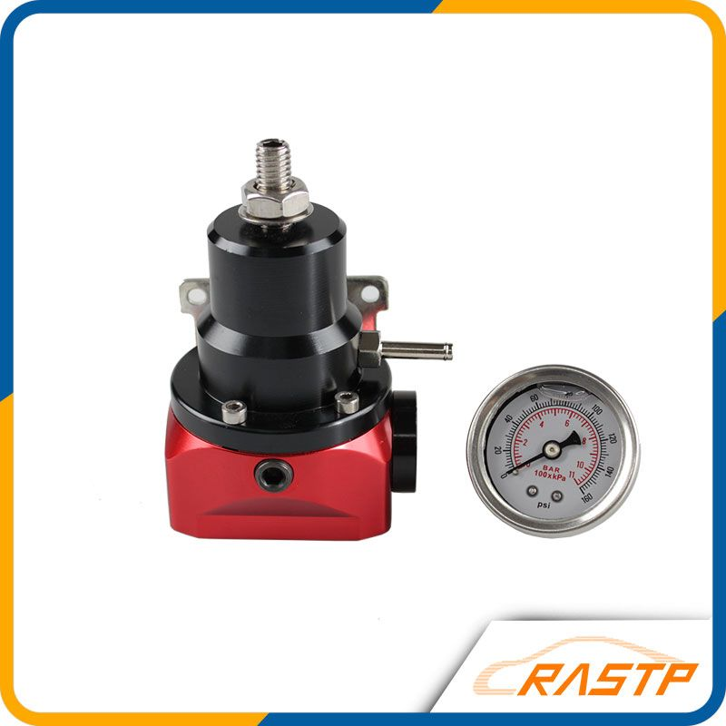 Universal Adjustable Injected Bypass Fuel Pressure Regulator Fitting AN10(W' 160psi Gauge/No W')With Gauge For honda LS-FRG009