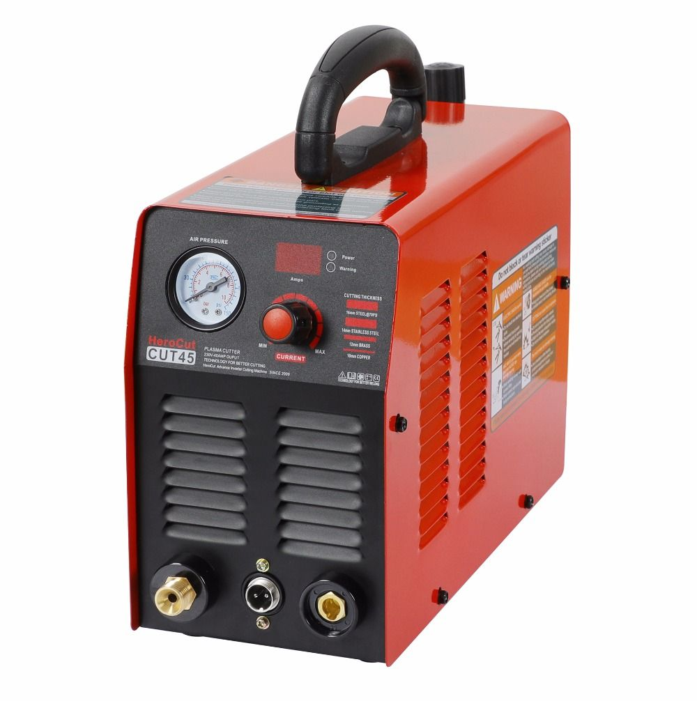 Plasma Cutter IGBT Plasma cutting machine Cut45 220V 10mm clean cut video show Herocut
