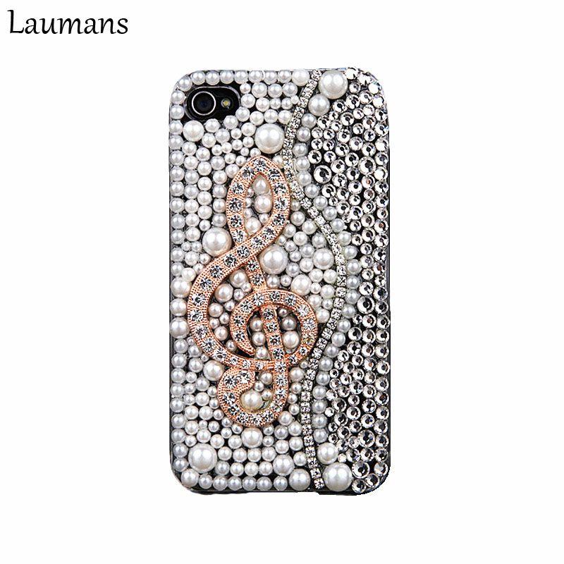 Laumans Luxus Voller Perlen Strass fall Für iphone X 6 6 s 7 8 plus 5 s DIY 3D Klaviertasten Musikalische Bling diamant Telefon zurück abdeckung